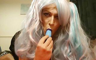gorgeous tranny dildo play AtM