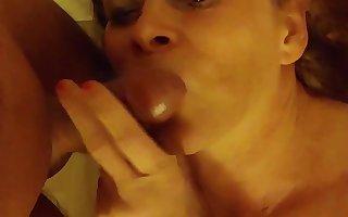 Redhead Tgirl does blowjob