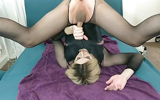 Blonde Self Facial & Cum Swallow