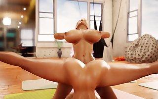 Vortex Of Halasana Yoga Class Futa Fuck Futanari Blowjob Cumshots