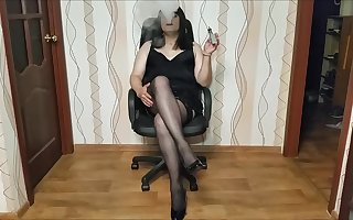 Smoking Tgirl