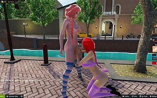 letsplay of 3d sex world, public toilet futa fuck 1